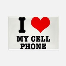 I Heart (Love) My Cell Phone Rectangle Magnet