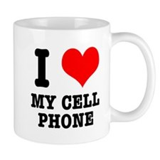 I Heart (Love) My Cell Phone Mug
