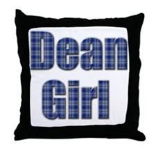 Dean Girl (blue plaid) Throw Pillow