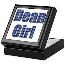 Dean Girl (blue plaid) Keepsake Box
