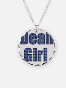 Dean Girl (blue plaid) Necklace
