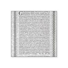 """The Desiderata Poem by Max  Square Sticker 3"""" x 3"""""""