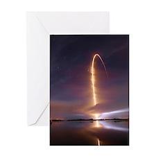 3000 Atlas V RBSP Launch Streak Shot Greeting Card