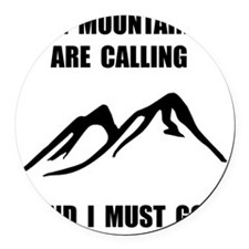 Mountains Must Go Round Car Magnet
