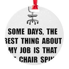 Job Chair Spins Ornament