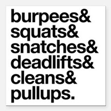 "Crossfit Essentials Blac Square Car Magnet 3"" x 3"""