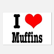 I Heart (Love) Muffins Postcards (Package of 8)
