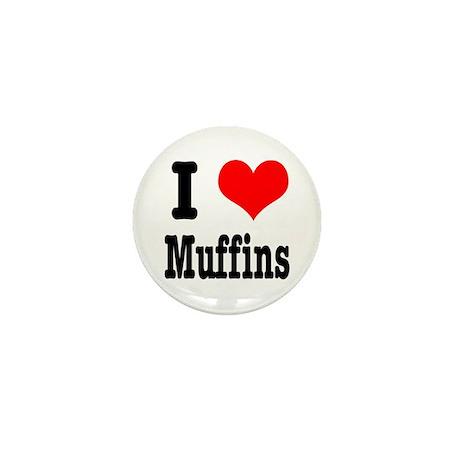 I Heart (Love) Muffins Mini Button (10 pack)