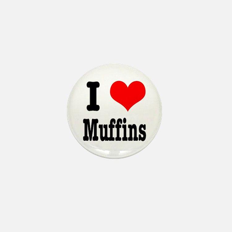 I Heart (Love) Muffins Mini Button