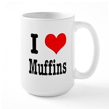 I Heart (Love) Muffins Mug
