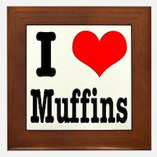 I Heart (Love) Muffins Framed Tile