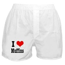 I Heart (Love) Muffins Boxer Shorts