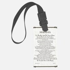 The Desiderata Poem by Max Ehrma Luggage Tag