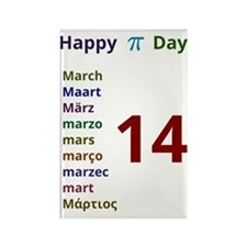 Happy Pi Day Rectangle Magnet