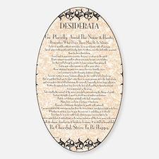 The Desiderata Poem by Max Ehrmann Sticker (Oval)
