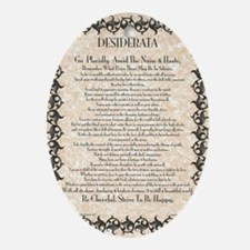 The Desiderata Poem by Max Ehrmann Oval Ornament