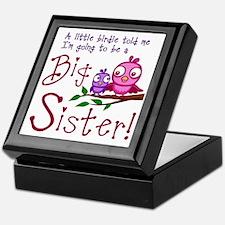 Birdie Big Sister Keepsake Box