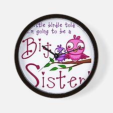Birdie Big Sister Wall Clock
