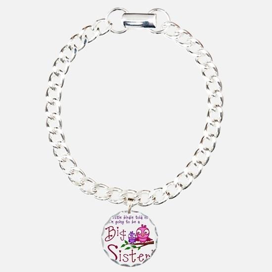 Birdie Big Sister Charm Bracelet, One Charm