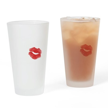 10x10_red BWpng Drinking Glass