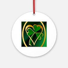 I Love St. Patricks Round Ornament