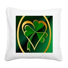 I Love St. Patricks Square Canvas Pillow