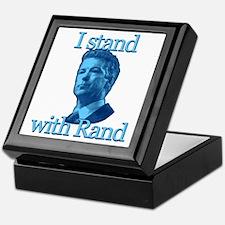 I STAND WITH RAND Keepsake Box