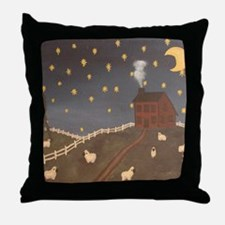 Night Night Sheepies Throw Pillow