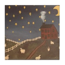 Night Night Sheepies Tile Coaster