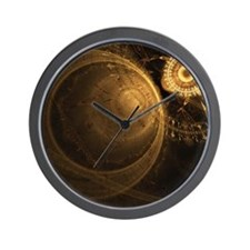 gc_shower_curtain Wall Clock