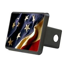 USA Patriotic Rectangular Hitch Cover