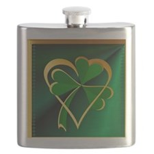 I Love St. Patricks Flask