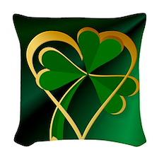 I Love St. Patricks Woven Throw Pillow