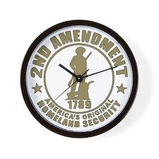 Minutemen, the Original Homesland Secur Wall Clock