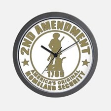 Minutemen, the Original Homesland Secur Wall Clock