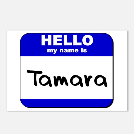 hello my name is tamara  Postcards (Package of 8)