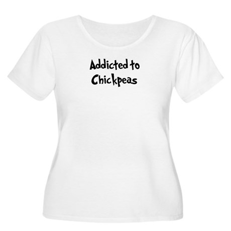 Addicted to Chickpeas Women's Plus Size Scoop Neck