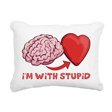 Im With Stupid Rectangular Canvas Pillow