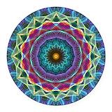 Mandala Round Car Magnets