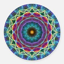 Inward Flower Round Car Magnet