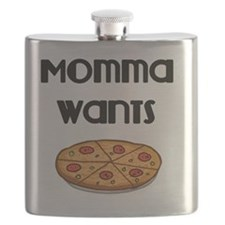 Momma Wants Pizza Flask