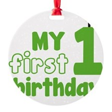 firstBirthCandle1C Ornament