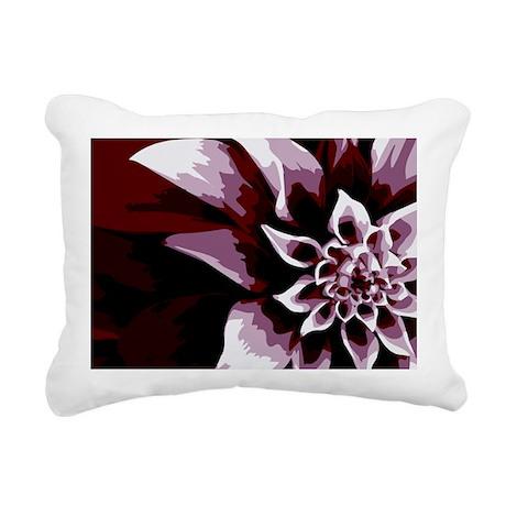 Deep Purple Flower Rectangular Canvas Pillow