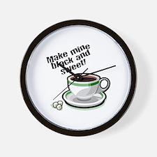 Black & Sweet Coffee Wall Clock