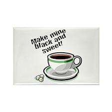 Black & Sweet Coffee Rectangle Magnet