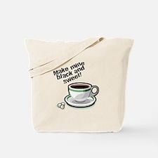 Black & Sweet Coffee Tote Bag