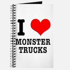 I Heart (Love) Monster Trucks Journal