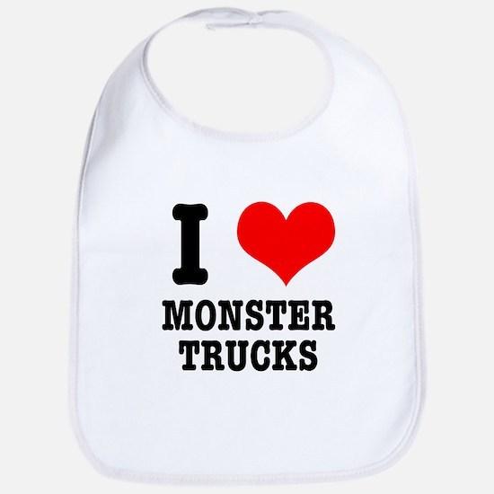 I Heart (Love) Monster Trucks Bib
