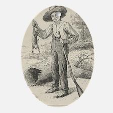 Huckleberry Finn Oval Ornament