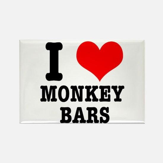 I Heart (Love) Monkey Bars Rectangle Magnet